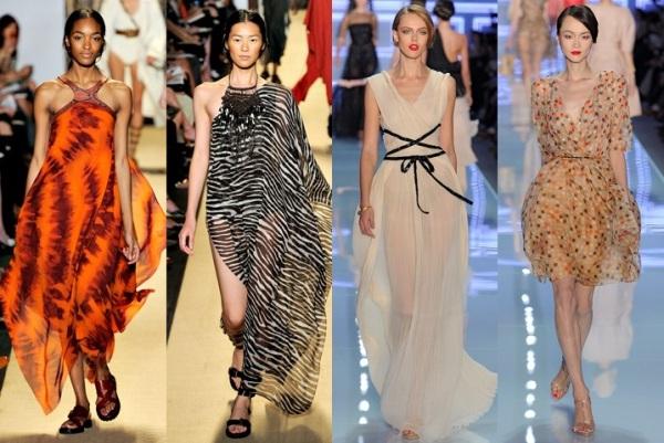 Модели платьев из шифона для полных женщин фасоны