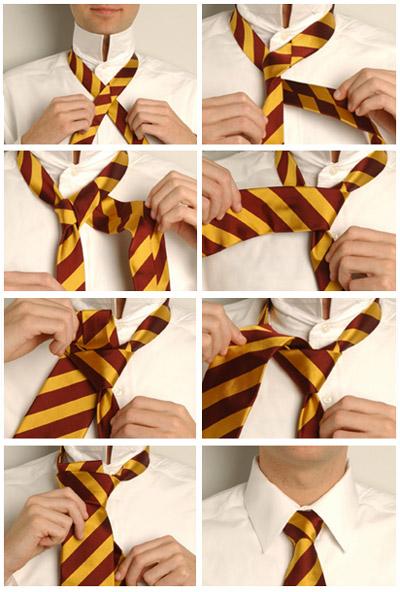 Как завязать галстук двойным узлом пошагово