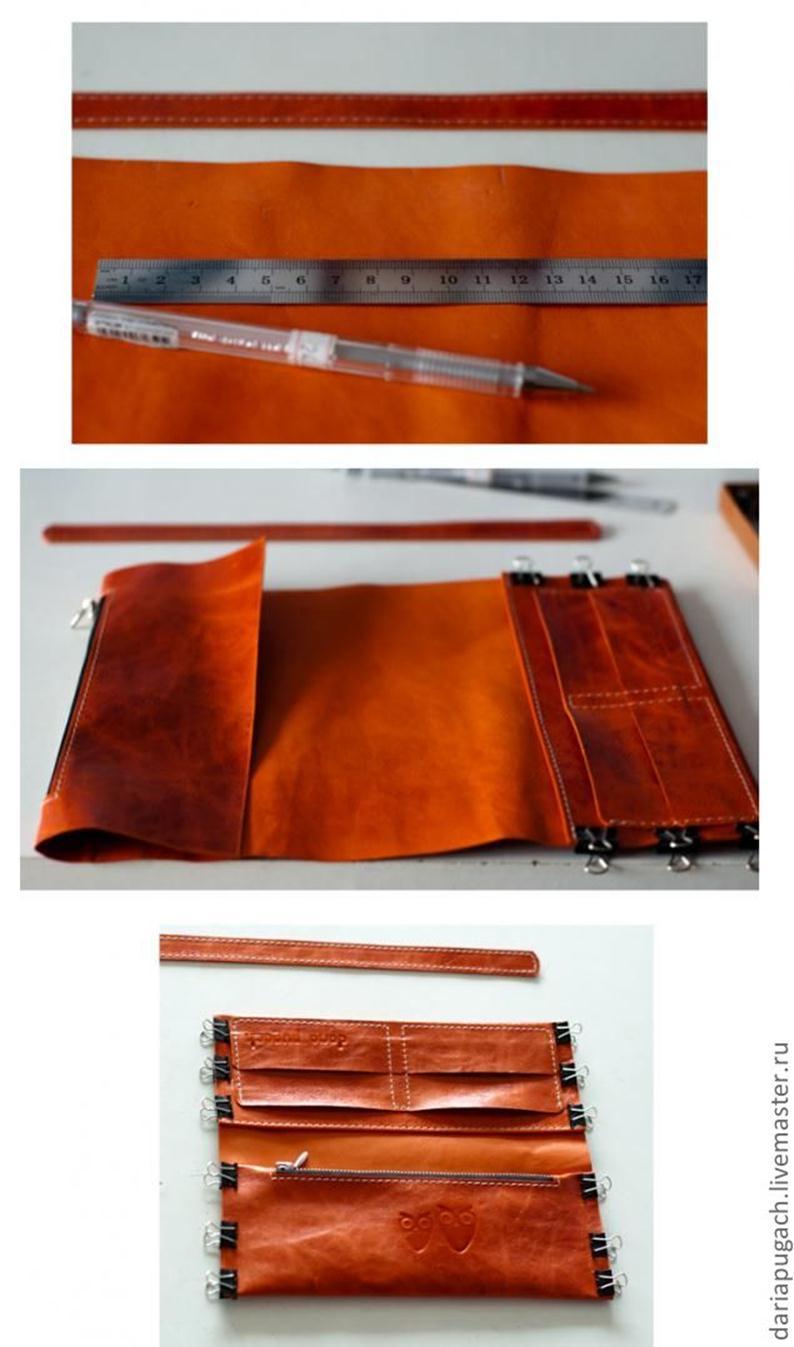 Как пошить кошелёк из кожи