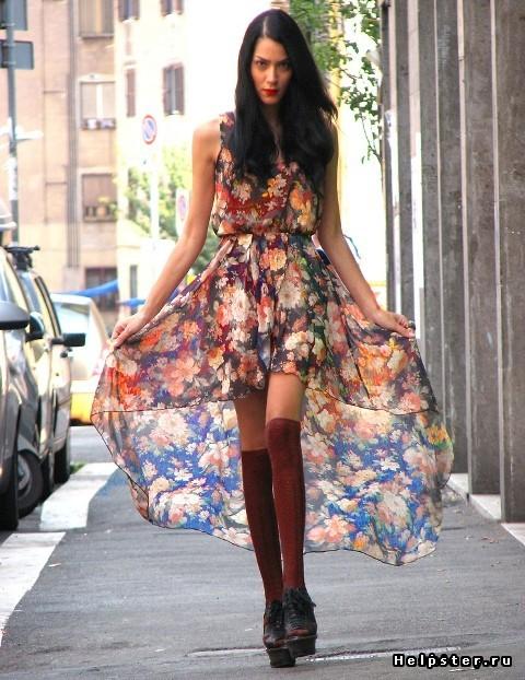 Длинные платья туники